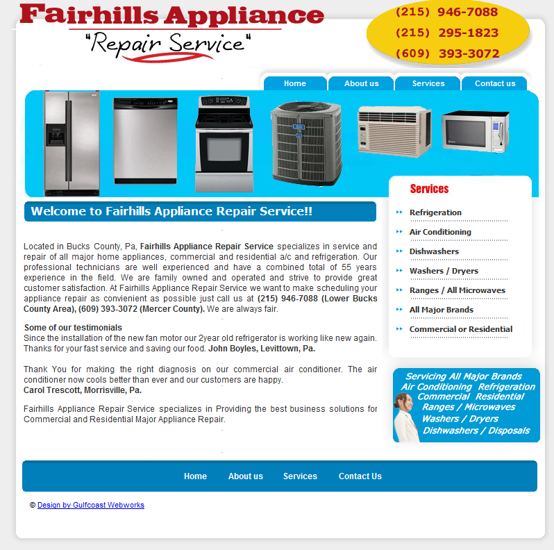Fairhills Appliance Repair Service Fairless Hills Pa